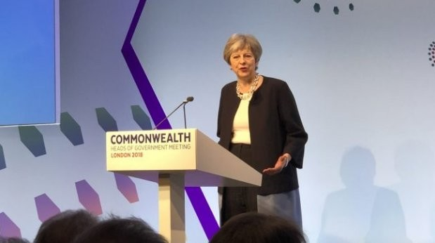 Theresa May Buhari Commonwealth Head of Government Meetings British Prime Minister
