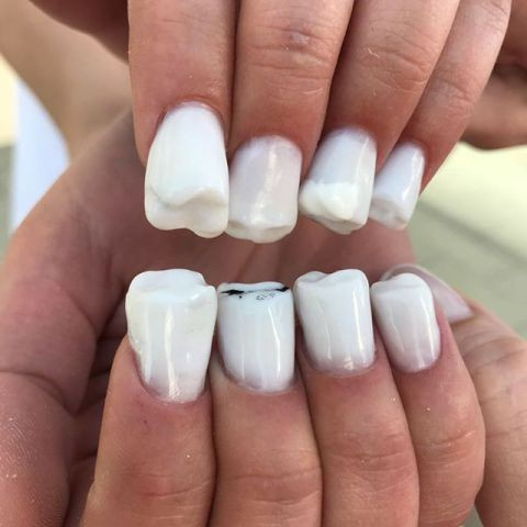 Oh Boy Is This Teeth Nail Art Going To Become A Trend Lindaikeji