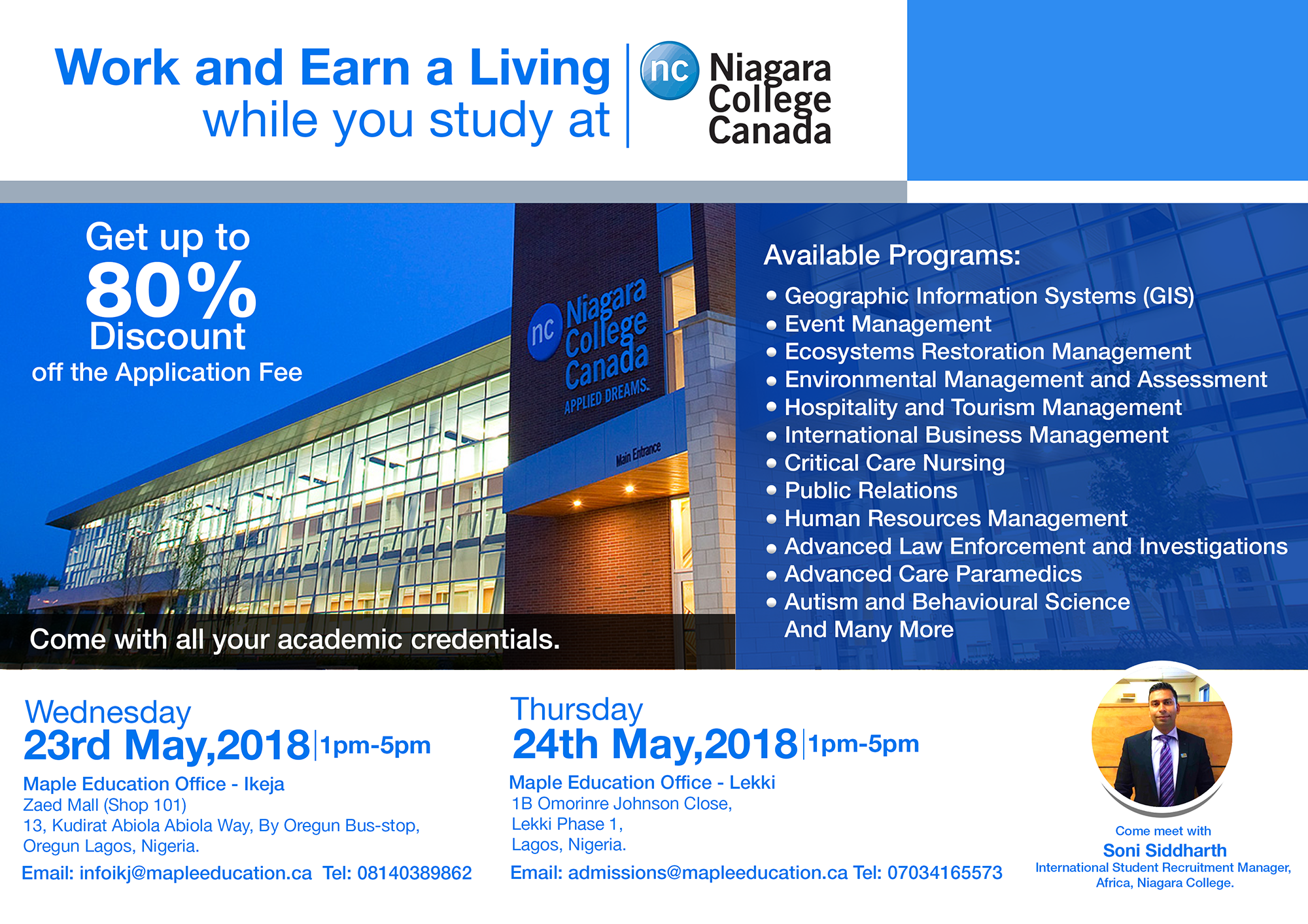 Work And Earn A Living While You Study At Niagara College Canada