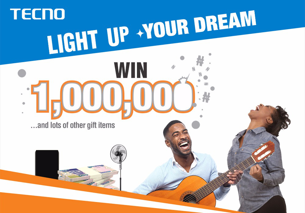 Win 1 Million Naira and other gift items in Tecno Spark 2 #LightUpYourDream2018