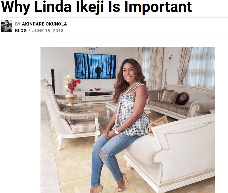 Why Linda Ikeji is important