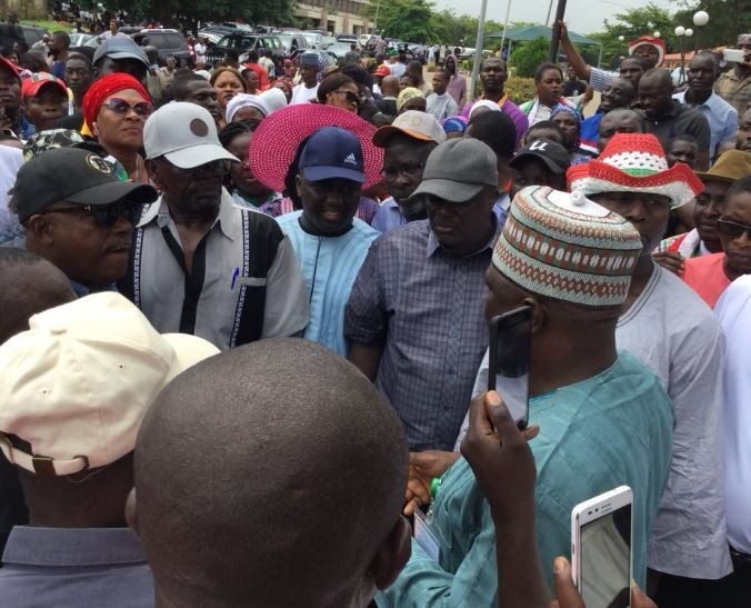 Ekiti Election: PDP leaders march to INEC office and National Assembly to submit petitions
