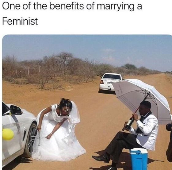 Is this really one of the benefits ofmarrying a feminist? (Photo)
