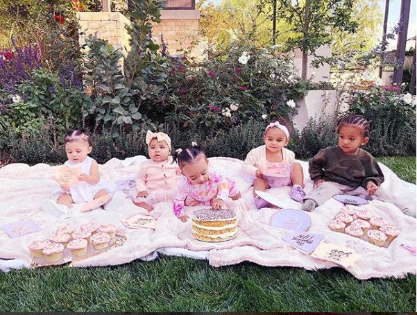 This photo of Stormi Webster, True Thompson, Chicago West, Saint West and Dream Kardashian is melting hearts