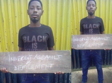 Photo: Togolese national who has sexual orgies with girls between 13-15 years old arrested in Lagos