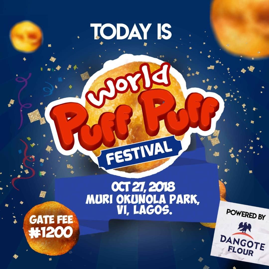 320934c8eb7255 Dangote Flour world Puff puff festival is going on now at Muri Okunola Park