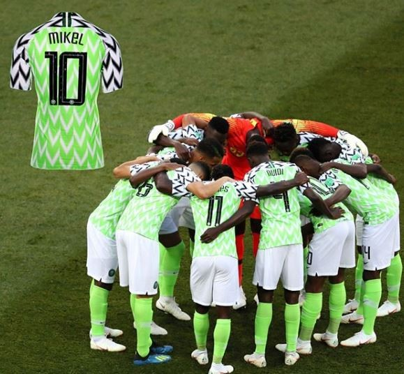bdc2c8e38 The Super Eagles jersey worn by Mikel Obi during 2018 World Cup has been  added to the FIFA museum collection
