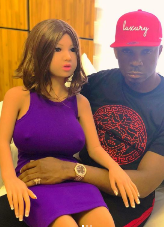 57abbf2a235 Controversial socialite Pretty Mike buys himself a busty sex doll to  celebrate his birthday (photos video)