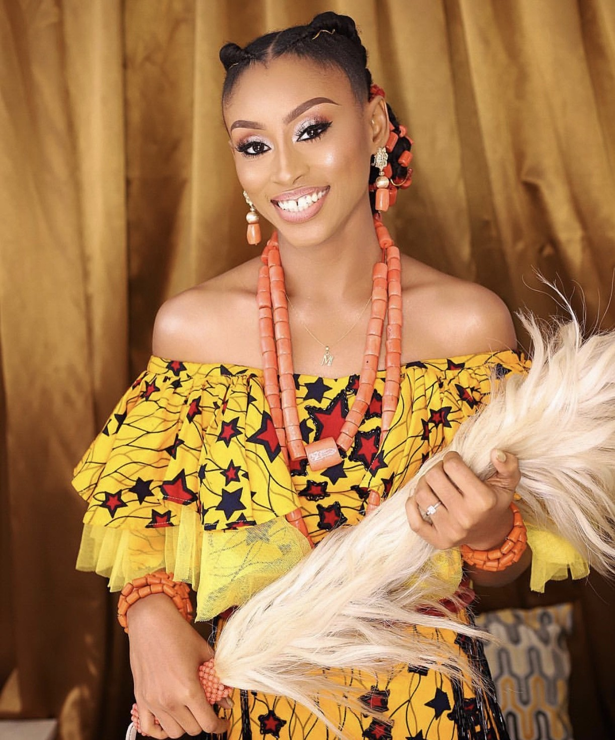 fd29f1a022b Model and actress Makida Moka s beautiful outfits at her traditional  wedding today (photos)