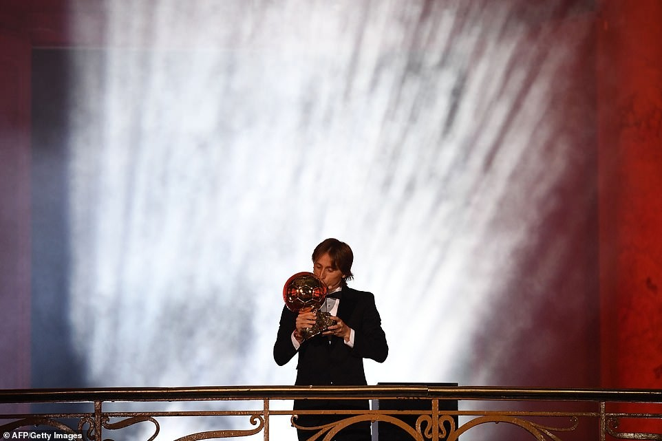 Luca Modric crowned world's best player at Ballon d'Or awards, ends Messi and Ronaldo's 10-year dominance (Photos)
