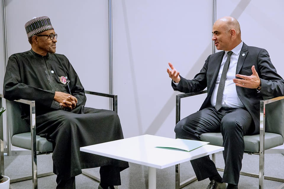 We will ensure the release of remaining kidnapped Chibok girls - President Buhari tells Swiss President in Poland