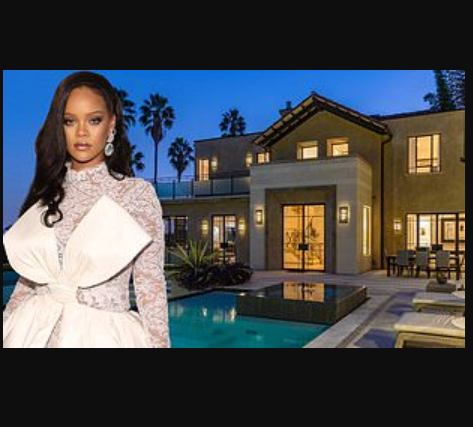 See the sprawling Los Angeles mansion Rihanna just puts back in the market for $7.4m just 18months after she bought it (Photos)