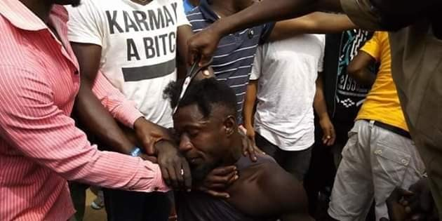 Outrage after youths storm market in Gboko, Benue and forcefully shaved young men with 'long' and afro hair tagging them cultists