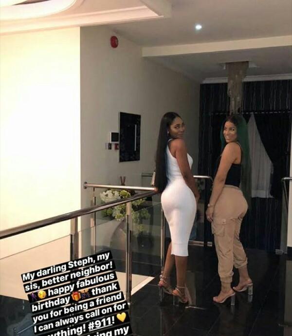 Hot mamas! Ex-beauty queens Stephanie Kalu Uche and Iheoma Nnadi show off their pert derrieres