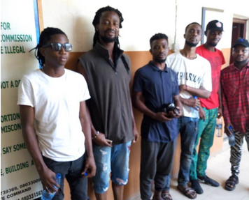 Photos: Six persons arrested for destroying campaign posters in Lagos