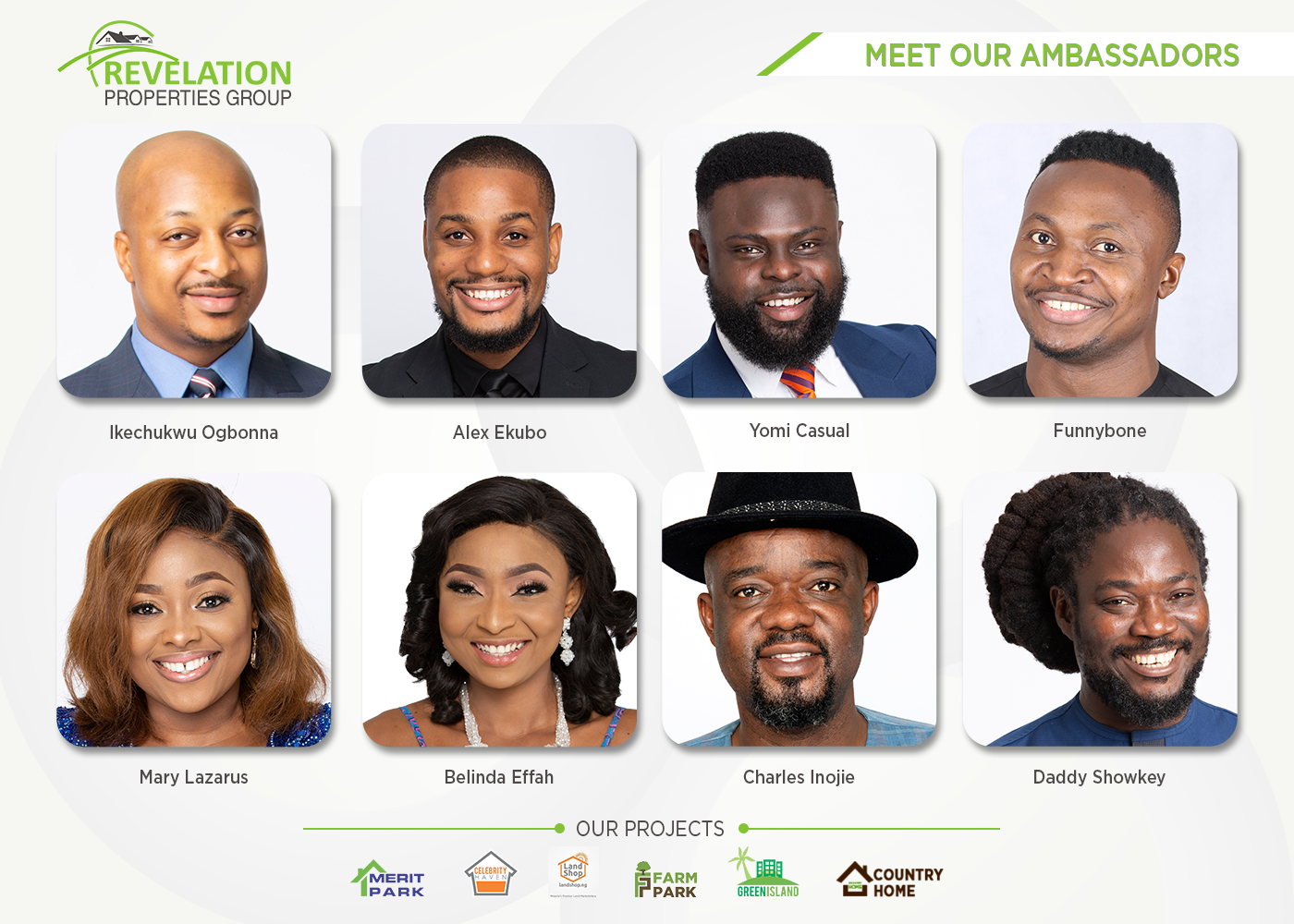 Revelation Properties unveils Brand Ambassadors and announces 40% Discount on their Estates in Ibeju Lekki