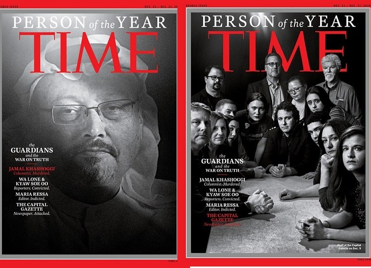 Jamal Khashoggi and other persecuted journalists become Time's 2018 Person of the Year (Photos)
