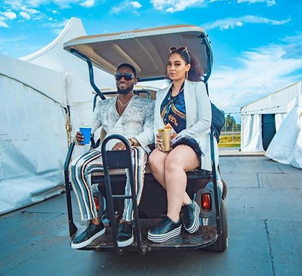 Lovely photo of DBanj and his wife, Lineo