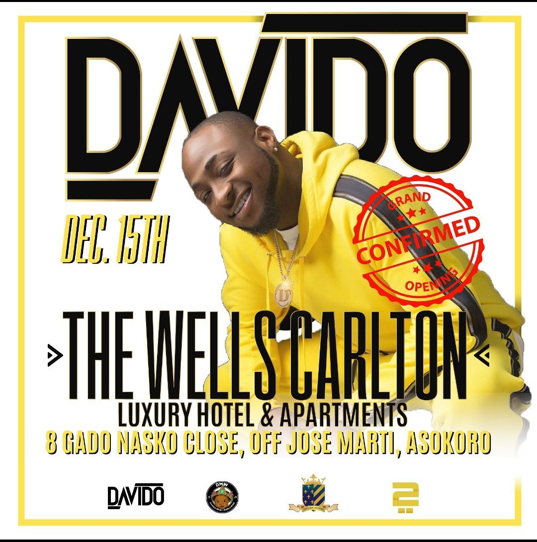 VP Yemi Osinbajo, Davido, Kizz Daniels, others to attend Wells Carlton Hotel and Luxury apartments launch