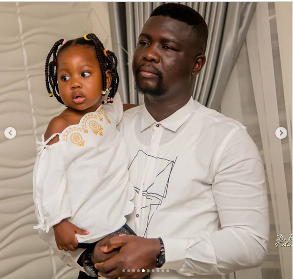 Comedian Seyilaw's daughter Tiwatope is a cute little girl. (Photos)
