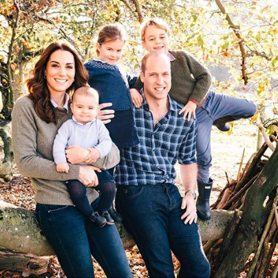 Prince William and Prince Harry release new photographs of their young families for their Christmas cards