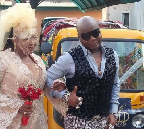 40 years after,Charlyboy remarries Lady Diane in Abuja (Photos)