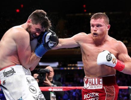 Canelo Alvarez knocks out Liverpools Rocky Fielding in third-round