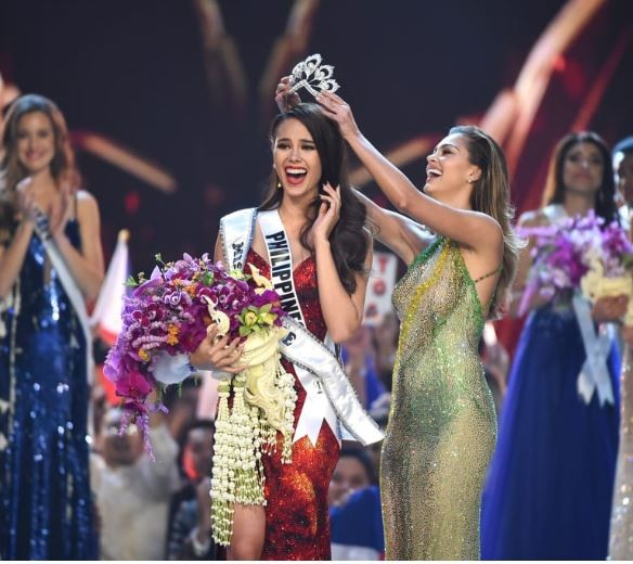 Catriona Gray beatscontestants from 93 other countries to be crowned Miss Universe 2018