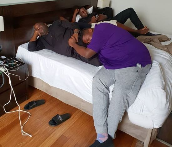 Caption this photo of Dele Momodu and his sons