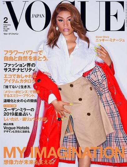 Nicki Minaj accused of stealing Lil Kim's look as she covers the latest edition of Vogue Japan
