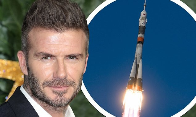 Football legend David Beckham 'is in secret talks to be the first footballer to travel to SPACE'
