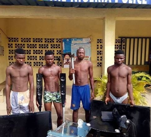 Police parade four notorious robbers terrorizing Bayelsa State (Photo)