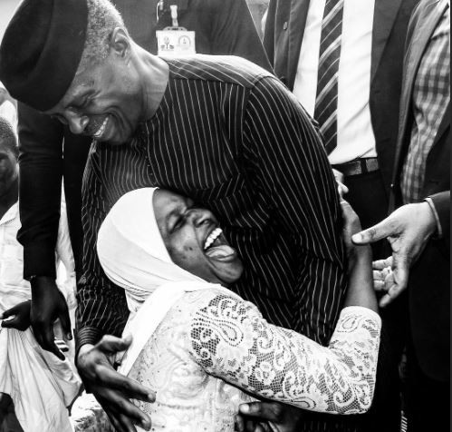 Caption this photo of VP, Yemi Osinbajo and a fan