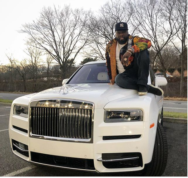 50 Cent buys himself $440k Rolls Royce for Christmas, posts receipt (Photos)