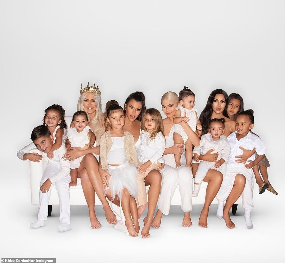 The Kardashian family release their Christmas card with Kendall and Kris Jenner missing