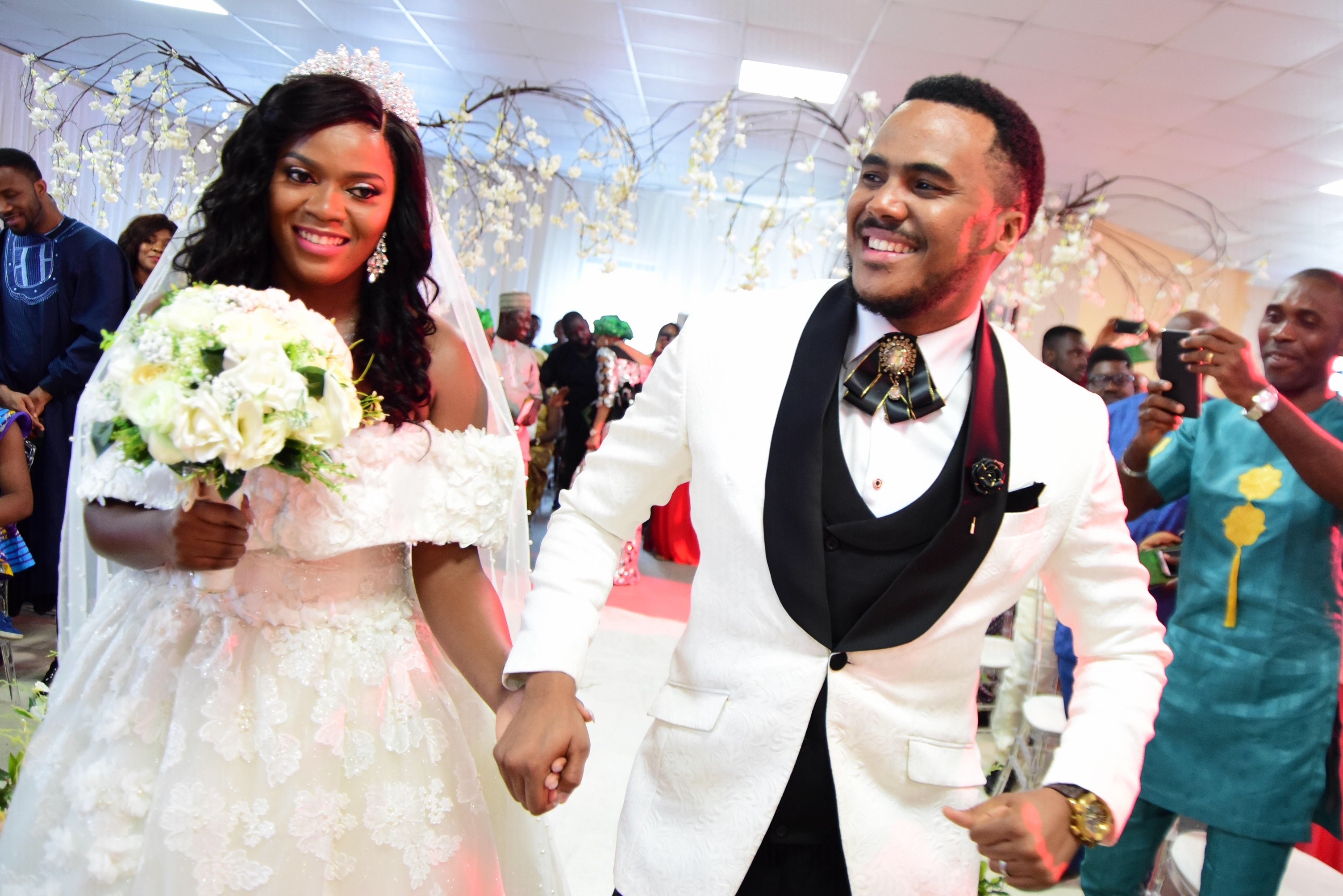 Official photos from Nollywood actor, Michael Okon's white wedding in Lagos