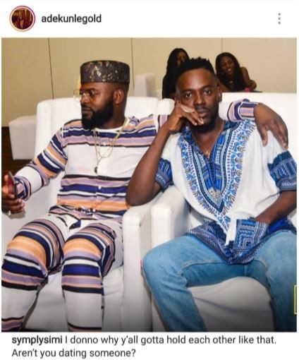 'Aren't you dating someone'? - Simi asks Adekunle Gold and Falz