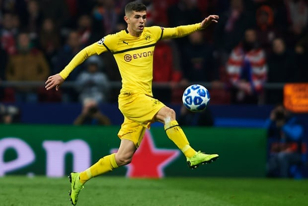 Chelsea sign US footballer Christian Pulisic from Borussia Dortmund for 58m