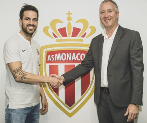 Chelsea midfielder, Cesc Fabregas completes switch to Monaco andwill wear Jersey 44 (Photos)