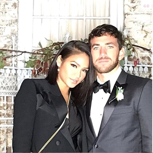 Cassie and her new boo Alex Fine pose together in new lovely photo