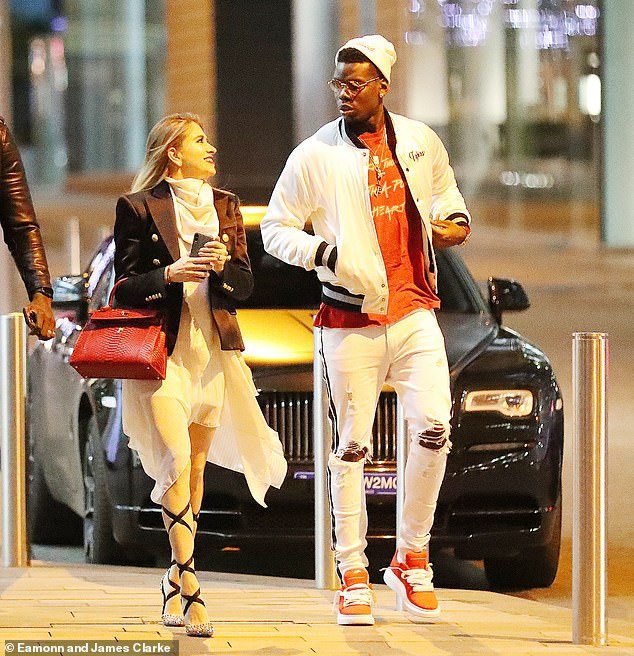 Paul Pogba makes a rare outing with his stunning girlfriend Maria Salaues after welcoming their first child (Photos)