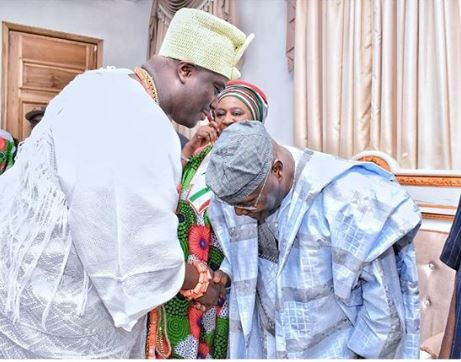 Caption this photo of Atiku Abubakar and Ooni of Ife