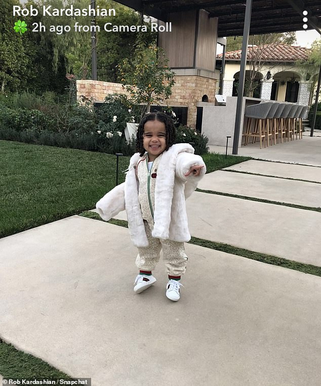 Rob Kardashian shares adorable photo of his two-year-old daughter Dream rocking Gucci tracksuit(Photo)