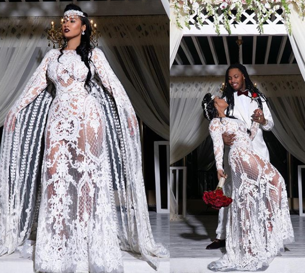 Rapper Waka Flocka and wife Tammy Rivera share glamorous photos fromtheir wedding ceremony in Mexico