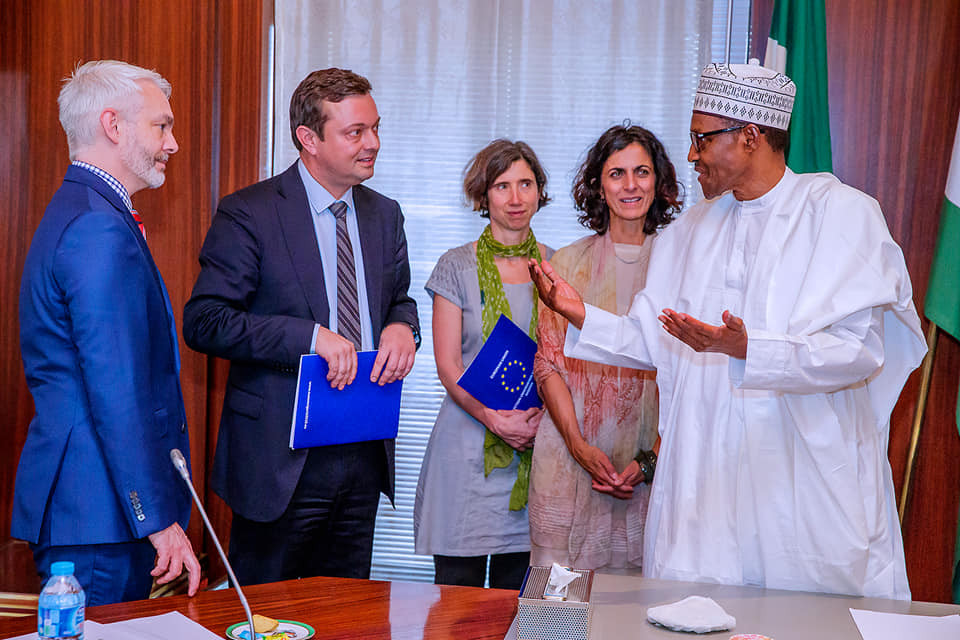 'I'm impressed with INEC's readiness for the 2019 elections - President Buhari tells EU election observers