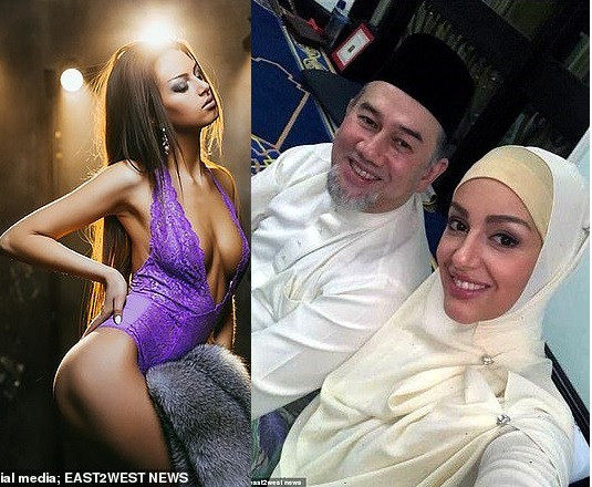 Marriage between pregnant Russian model, 25, and Malaysian king, 49, who abdicated his throne to marry to her 'is on the rocks'