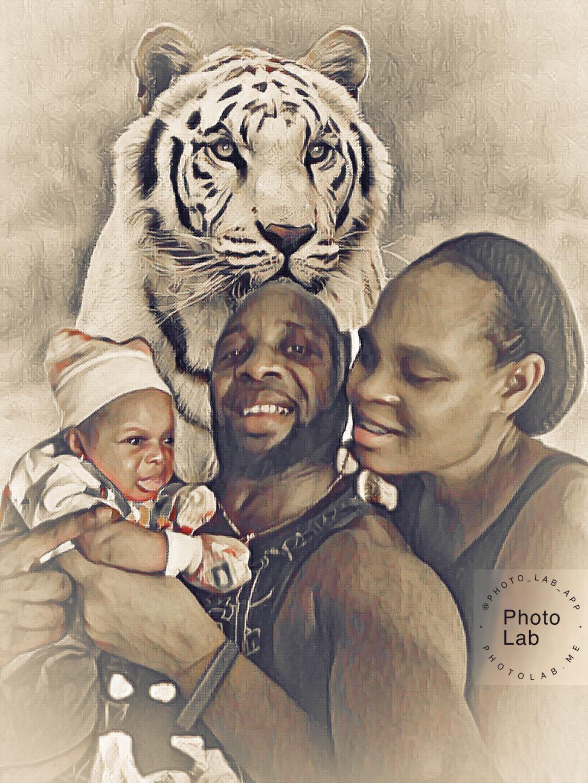 Godswill & Mary Inimbga of  We4We TV dedicate child
