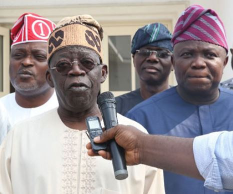 Photos: Tinubu presides over peace meeting betweenGovernorAmbode and Lagos Assembly members, says 'no question of Impeachment'