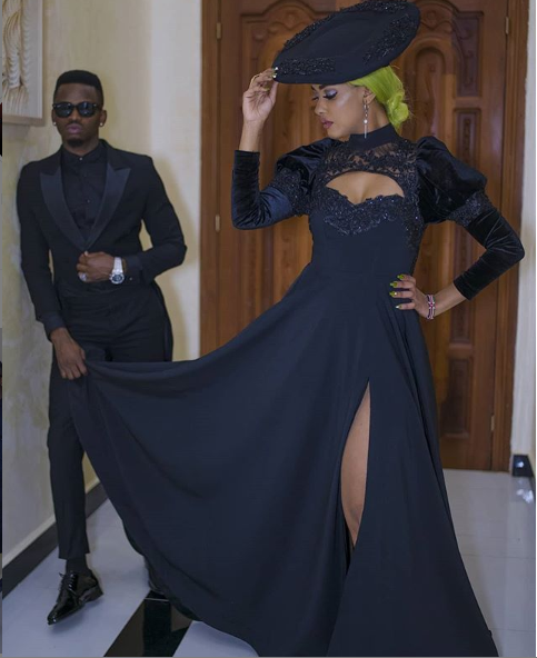 Caption this photo of Diamond Platnumz and his fiancee Tanasha