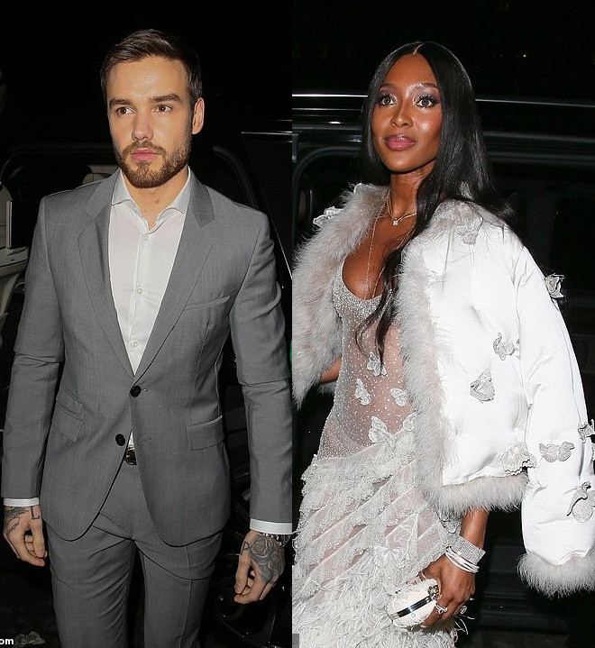 Naomi Campbell, 48, and 'new flame' Liam Payne, 25 attend Vogue BAFTA party amidst romance rumours (Photos)
